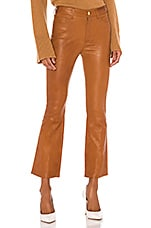FRAME Leather Le Crop Mini Boot Pant in Tobacco