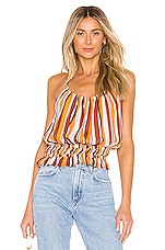 FRAME Smocked Tank in Sunrise Multi