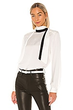 FRAME Scarf Blouse in Blanc