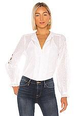 FRAME Petal Button Down Shirt in Blanc