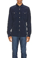FRAME Long Sleeve Western Shirt in Indigo