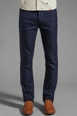The Mills Slim Fit Hopsack Jean in Midnight