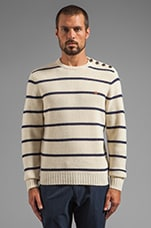1920 Ewart Striped Pullover in Ecru