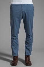 The Chester Twill Tailored Chino in Grey Blue