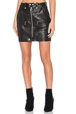 Moto Leather Skirt in Noir