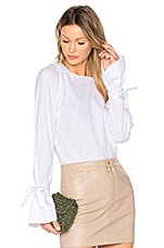 Poplin Blouse in Blanc