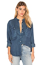 Le Troop Denim Button Up in James