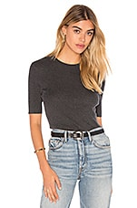 Le Classic Rib Top in Charcoal