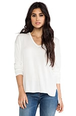 Jordana Slit Back Sweater in White