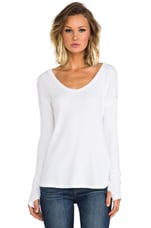 Cameron Thermal Top in White