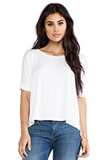 Zoey Slit Back Tee in White
