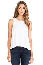 Doe Slit Back Tank in White