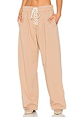 Front Lacing Sweatpant in Natural