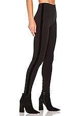 Velvet Taping Legging in Black
