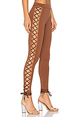 Lacing Legging in Friar Brown