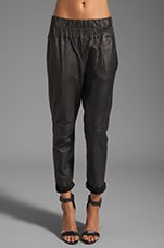 Tyson Leather Pants en Noir