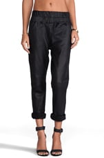 Boxer Leather Track Pants in Black