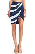 Lost Boys Wrap Skirt in Tie Dye Stripe