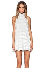 The Fifth Label River City Dress in White & Black Stripe