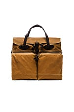 72 Hr Tin Cloth Briefcase en Dark Tan