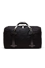 The Black Collection Medium Twill Duffle Bag in Black