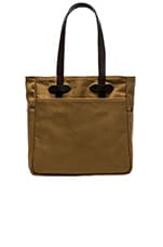 Open Tote Bag en Dark Tan