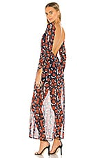 Finders Keepers Maya Maxi Dress in Navy Floral