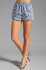 Dream People Shorts in Sharrered Geo Denim