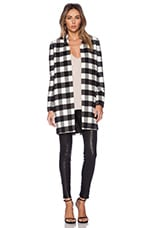 Finders Keepers Justice Coat in Gingham Black & White