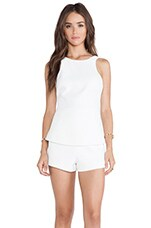 Finders Keepers Stranger in Paradise Playsuit in White