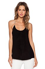 Tank in Black & Heather Taupe