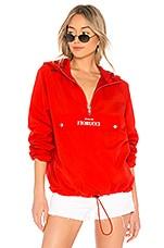 FIORUCCI Packable Windbreaker Jacket in Fiery Red