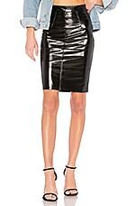 FIORUCCI Margot Skinny Skirt in Black Vinyl