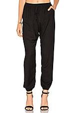 Flannel Portobello Pant in Black