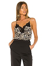 fleur du mal James Lace Trim Cami in Tiger