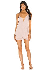 Flora Nikrooz Laurel II Romper in Sepia Rose