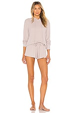 Flora Nikrooz Bella Hoodie Short Set in Taupe