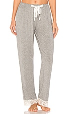 Flora Nikrooz Snuggle Knit Pant in Heather Grey