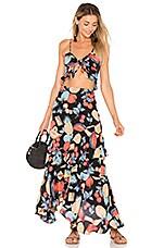 FLYNN SKYE Michelle Maxi Dress in Dark Fruit