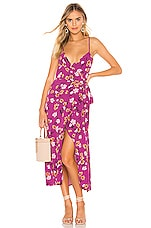 FLYNN SKYE Nikki Wrap Dress in Berry Kiss