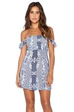 FLYNN SKYE Bardot Mini Dress in Dreamy Days
