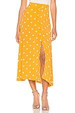 FLYNN SKYE Sophia Skirt in Yellow Dot