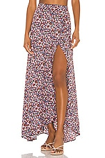 FLYNN SKYE Wrap It Up Skirt in Black Floral