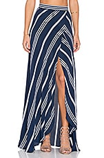 Wrap It Up Skirt in Sapphire Stripe