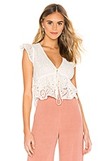 FLYNN SKYE Cecelia Top in White Eyelet