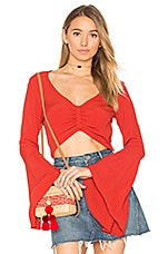 Alyssa Crop Top in Crimson