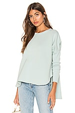 Frank & Eileen tee lab Relaxed Long Sleeve Pullover in Excite Mint