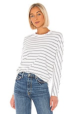 Frank & Eileen Tee Lab Oversized Continuous Sweatshirt in White & Black Stripe