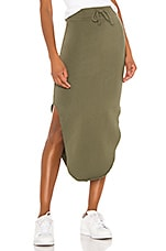 Frank & Eileen tee lab Midi Skirt in British Army