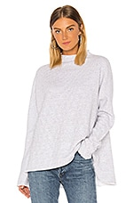 Frank & Eileen tee lab Triple Fleece Long Sleeve in White & Navy Melange Stripe